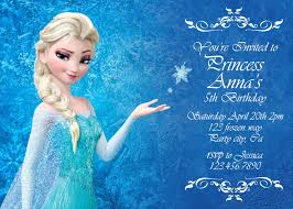 elsa birthday invitations disney frozen birthday invitation best party ideas
