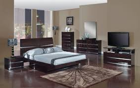 wenge finish modern stylish bedroom w optional casegoods
