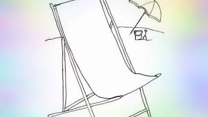 Beach Chair Drawing How To Draw A Beach Chair Stepstep Youtube