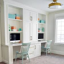 home office built ins. loft area features a built in desk for two cabinet paint color is benjamin moore home office ins