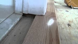 ... Use Laminate Flooring In A Bathroom. Hardwood Bathroom Transition How  To Video Youtube Gallery