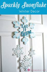 sparkly snowflake decor for winter holidays or decorations