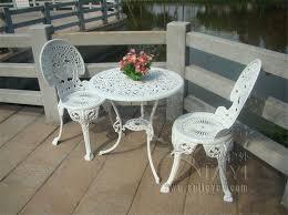 deco garden furniture. cast aluminium garden furniture set table and 2 chairs victorian style deco garden furniture