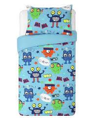 brand new boys monsters blue duvet set from argos