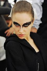 black swan makeup may do a look similar to this for a dark angel costume