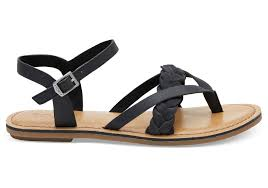 black leather women s lexie sandals rollover to zoom 1