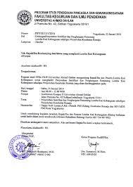 Surat niaga terdiri atas surat jual beli, kwintansi, dan perdagangan; Surat Undangan Penyerahan Sertifikat Dan Pengumuman Juara Lomba Esai Kebangsaan Program Studi Ppkn Uad