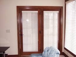 image of sliding patio doors with built in blinds
