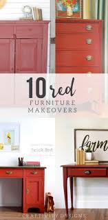 10 Beautiful Red Painted Furniture Makeovers