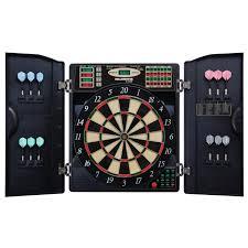 com escalade sports e bristle 3 piece 1000 led electronic dartboard cabinet set sports outdoors