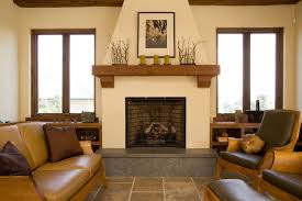 living room with wooden fireplace mantel shelf