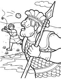 David And Goliath Coloring Page And Coloring Page How To Draw Versus
