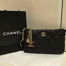 chanel key pouch. chanel vip gift pouch in gorgeous black key