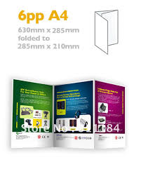 paper flyer custom a4 brochures folded flyers 6pp full color thick paper
