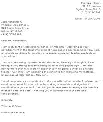 Cover Letter Education Education Cover Letter Special Education