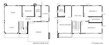 ground floor and second floor plans of