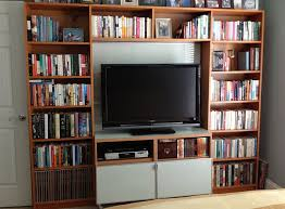 Materials: Billy bookcases, Besta TV stand, Framsta panels