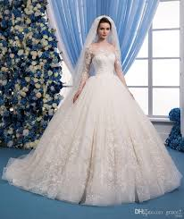 romantic lace wedding dresses 2018 with free veils same style as