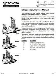 toyota truck 5fbc13 5fbc15 5fbc18 5fbc20 5fbc25 5fbc28 original illustrated factory workshop service manual for toyota electric walkie high lifter truck type 6bwc