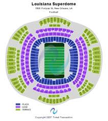 Mercedes Benz Superdome Tickets In New Orleans Louisiana