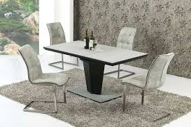 full size of black and grey marble dining table with legs set round small extending stone