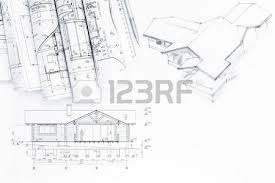 architectural engineering blueprints. Architectural Drawing With Engineering And Architecture Blueprints Photo