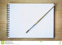 paintbrush on blank drawing paper book stock photo image of brush background