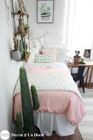 bedroom ideas for teenage girls green. Unique Teenage Fab Teen Bedding And Bedroom Dcor Perfect Room Makeover Peach U0026  Green Cactus Designer Teen Girl Bedding Set To Bedroom Ideas For Teenage Girls S