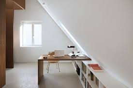 attic home office. Bright Attic With Interesting Desk For An Office Space Home A
