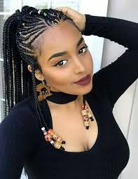 African Braids Hairstyles 78 Stunning Feedin Braids Beaded Hair Jewelry Natural Black Hairstyles