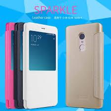xiaomi redmi note 4 4x pro nillkin new sparkle leather flip case cover
