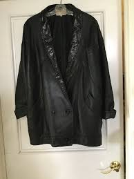 details about dero by rocco womens tuxedo black snake embossed vtg leather jacket m rare