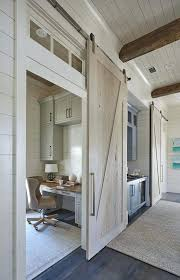 contemporary home office sliding barn. Appealing Home Office With Sliding Barn Door Ideas Best Overhead Lighting For Contemporary
