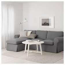 Ektorp Nordvalla Light Blue Ektorp 3 Seat Sofa With Chaise Longue Nordvalla Dark Grey