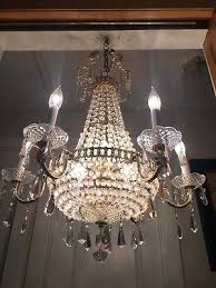french empire basket chandelier antique vintage french empire crystal beaded basket chandelier arm lights with antique