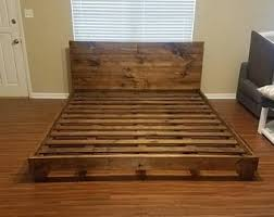 King bed frame | Etsy