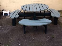 8 seater large round picnic table