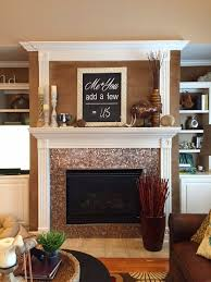 Copper penny rounds add a rich and textural look to this customer fireplace  #thetileshop #