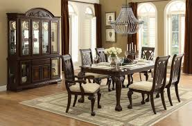 homelegance norwich  piece dining room set in warm cherry