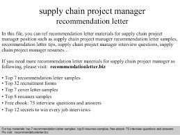 Brilliant Ideas Of Best Cover Letter For Supply Chain Manager