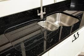double drainer with belfast sink half recess with draining grooves granite counter tops ireland no recess with draining grooves