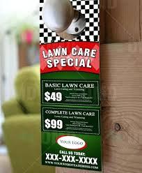 Lawn Care Door Hangers Template Landscape Lawn Service Door Hanger