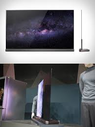 lg tv sound bar. lg g6 4k oled tv display is as thin a 4 stacked credit cards, has integrated soundbar lg tv sound bar e