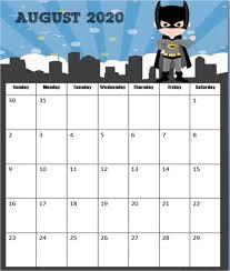 Free Super Hero Calendar 2019 2020 123 Homeschool 4 Me