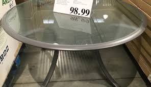 inch tabl woodard chair top tempered replacement and white outside set covers round chairs glass tables