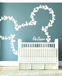 baby girl room decals wall decoration name decor mickey mouse art