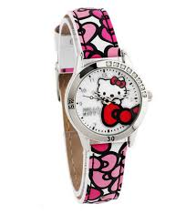<b>Hello Kitty PU Leather</b> Strap Watch HKFR1252-01B – Friend Studio