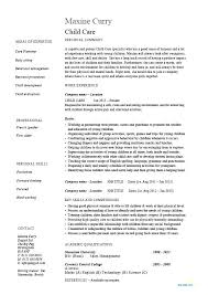 Care Worker Resume Child Care Worker Resume Dew Drops