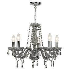 searchlight marie therese 5 light chandelier smoked grey lighting direct