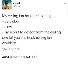 three ceiling fan and you shael 5hael my ceiling fan has three